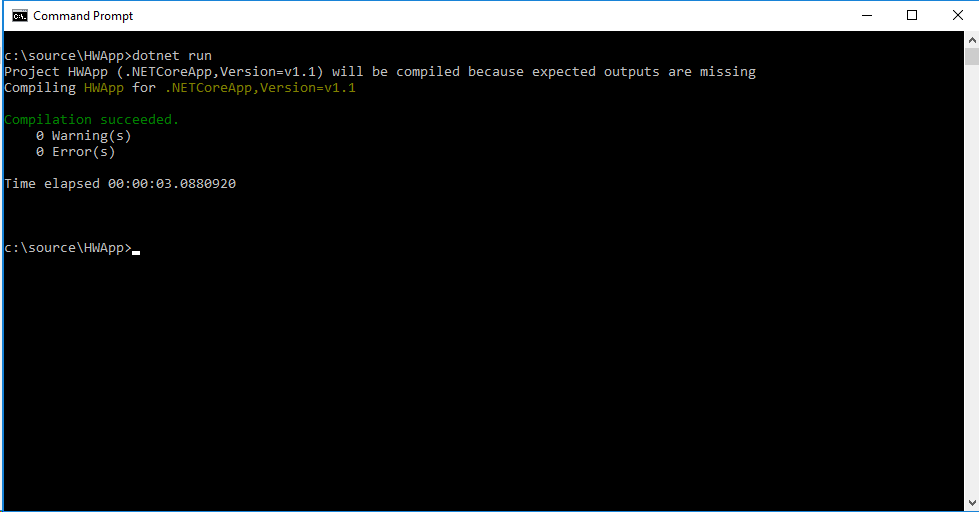 Super exciting dotnet run command